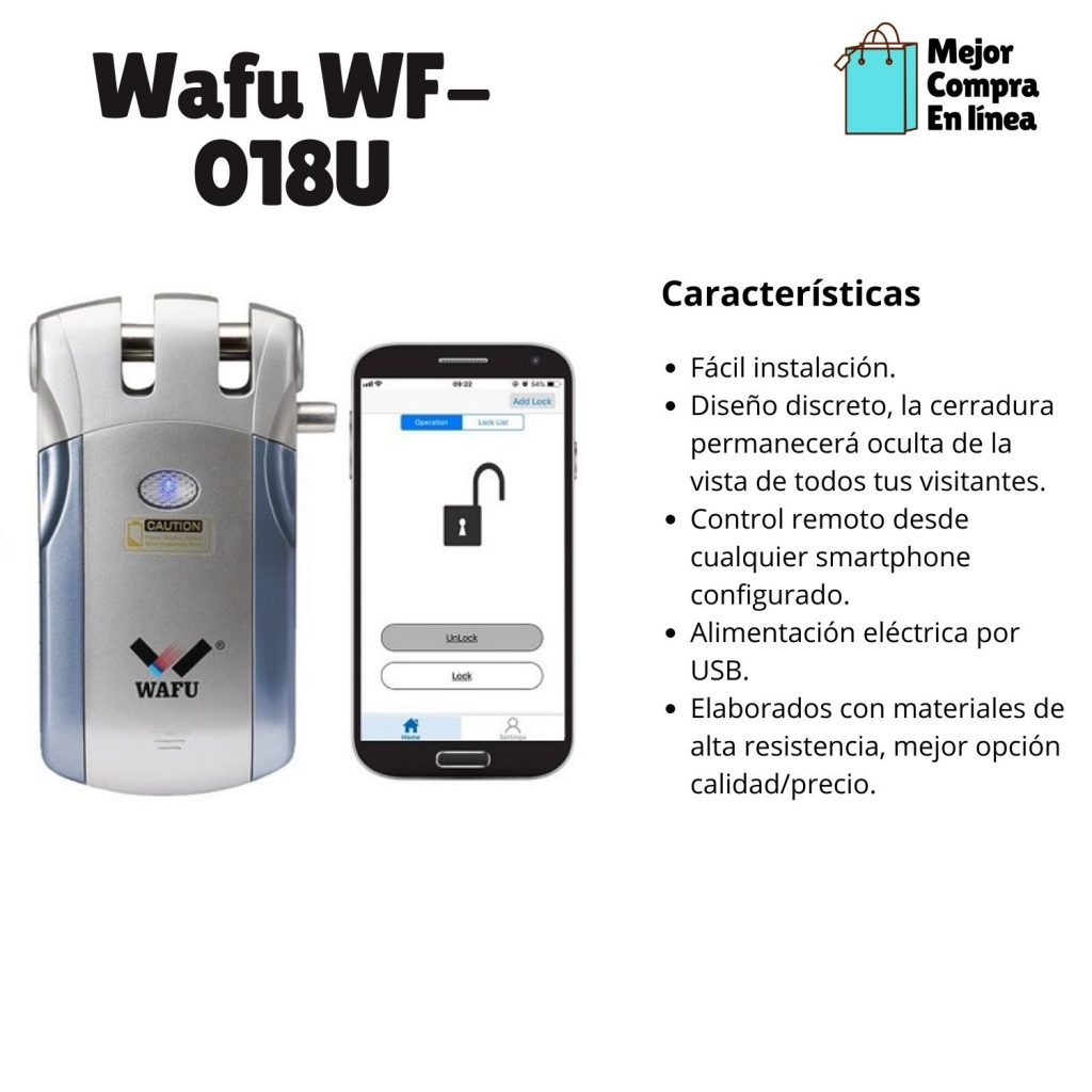 Comparativa cerraduras inteligentes  - Wafu WF 018U