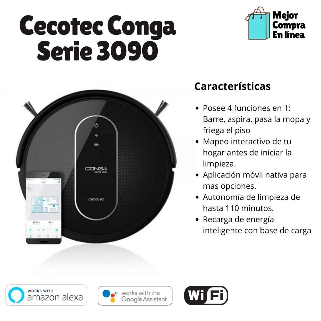 Aspirador Inteligente Cecotec Conga Serie 3090