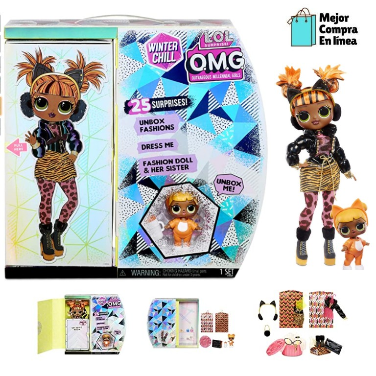 L.O.L. Surprise! O.M.G. Invierno Chill Missy Meow Fashion Doll & Baby Cat Doll
